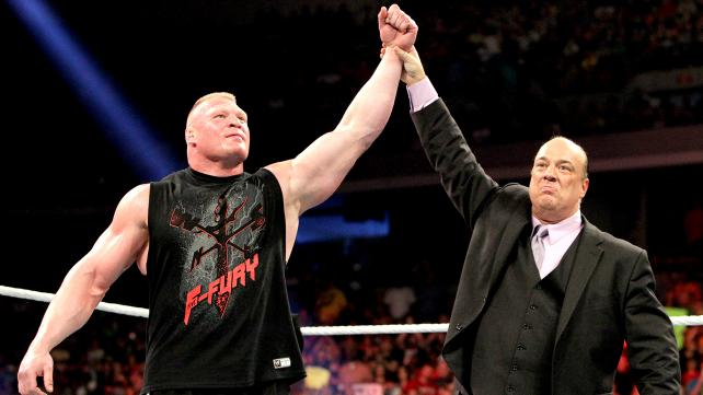 Heyman and Lesnar