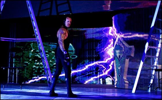 Taker looks back