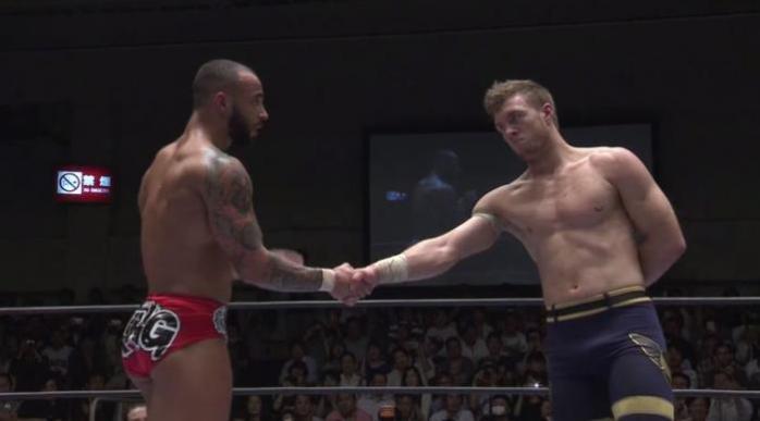 Ospreay and Ricochet handshake.JPG
