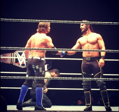 AJ-Styles-and-Rollins-Shake-Hands