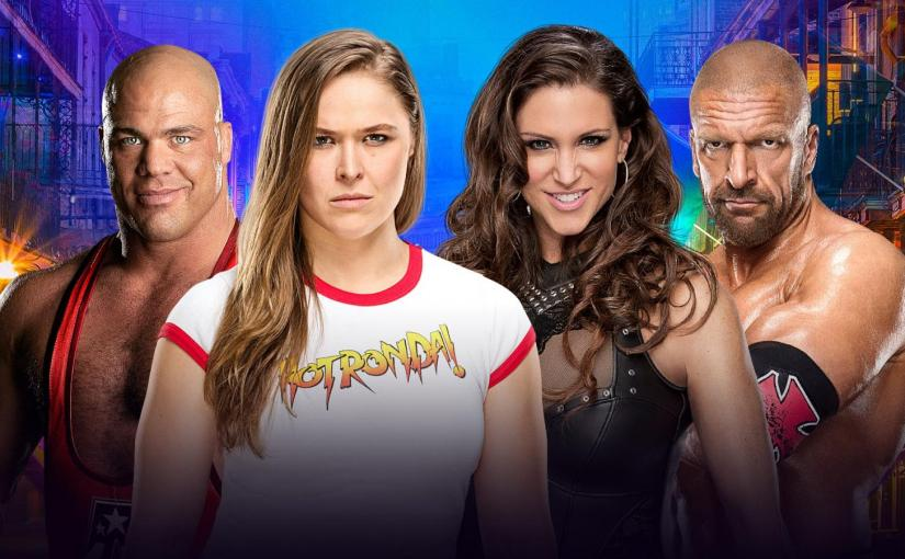Wrestlemania 34 Spotlight: Kurt Angle & Ronda Rousey vs Triple H & Stephanie McMahon