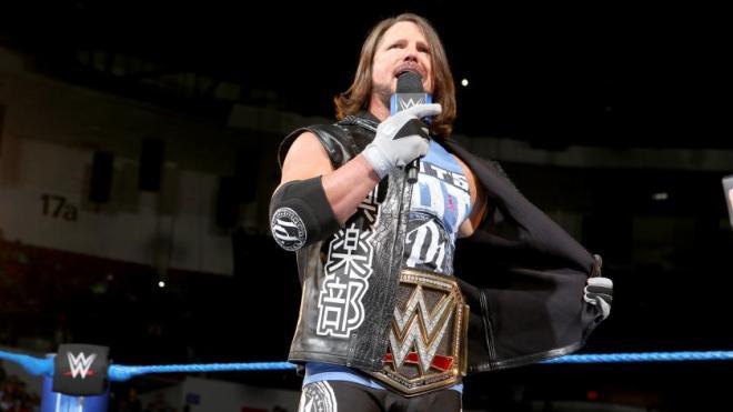 AJ Styles WWE Championship